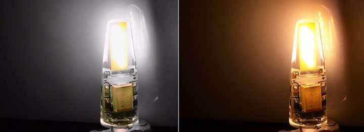 Blanc et Blanc chaud Piccoled COB Samsung 1505 à culot G4 - 3 watt