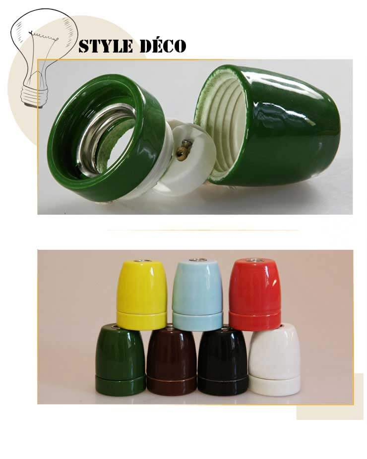 Douille-Porcelaine-Vert