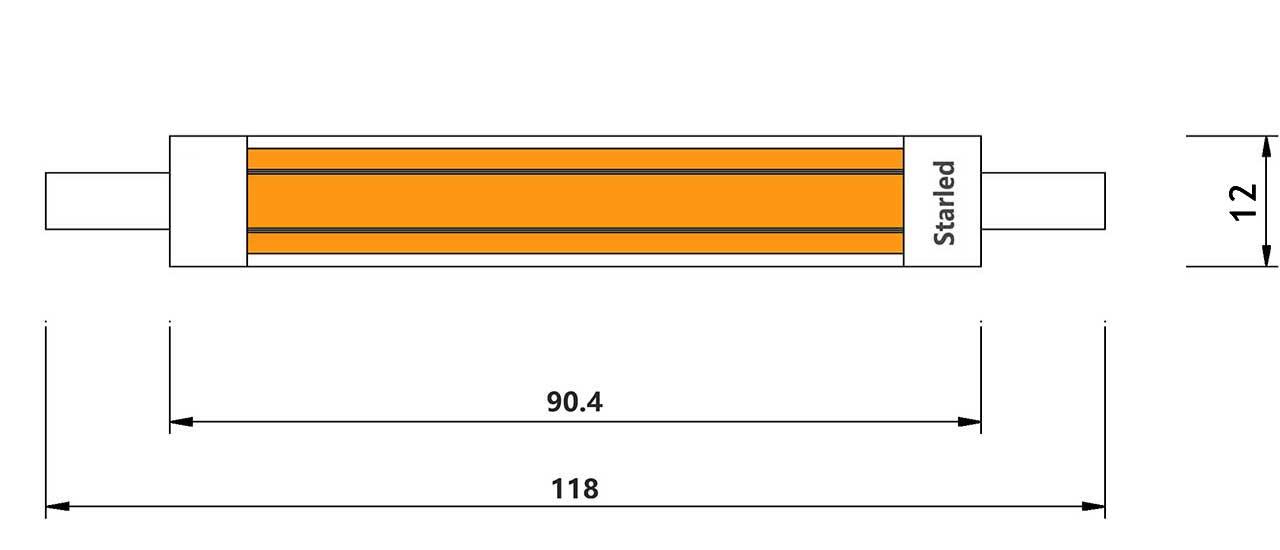 Dim-R7s-4-LED-COB-12watts