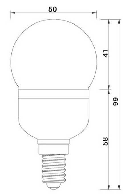 Dimention-E14-21LED-SMD