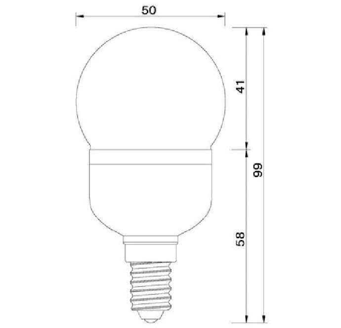 Dimention-E14-27LED-SMD