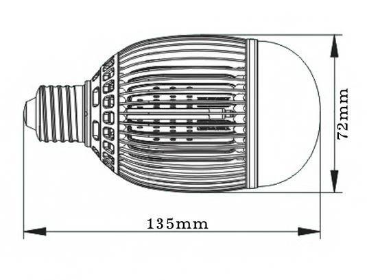 Dimention-E27-11watts-Efficiency-LED
