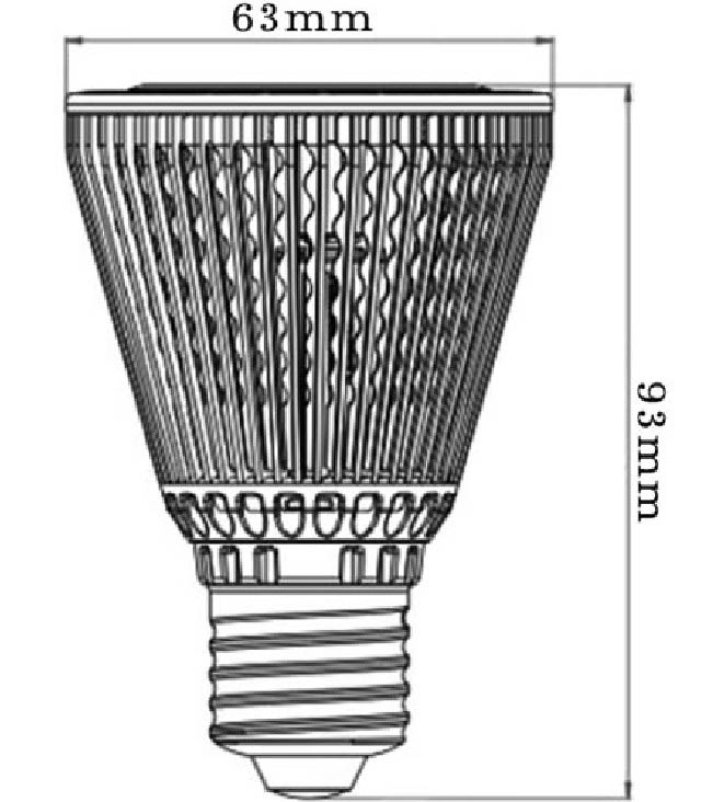 Dimention-E27-PAR20-4LED