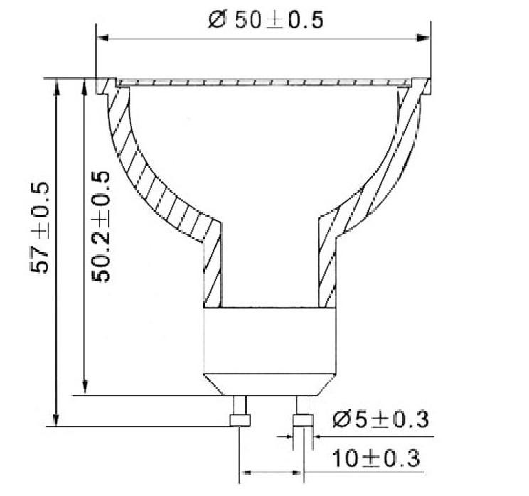 Dimention-GU10-3LED-HIGH-POWER