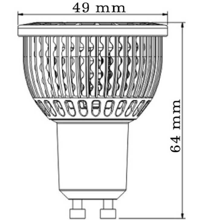 Dimention-GU10-5x1LED-efficiency-led