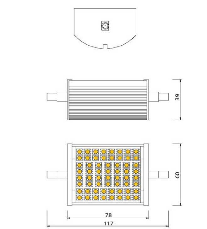 Dimention-ampoule-LED-R7s-10watts-60LED