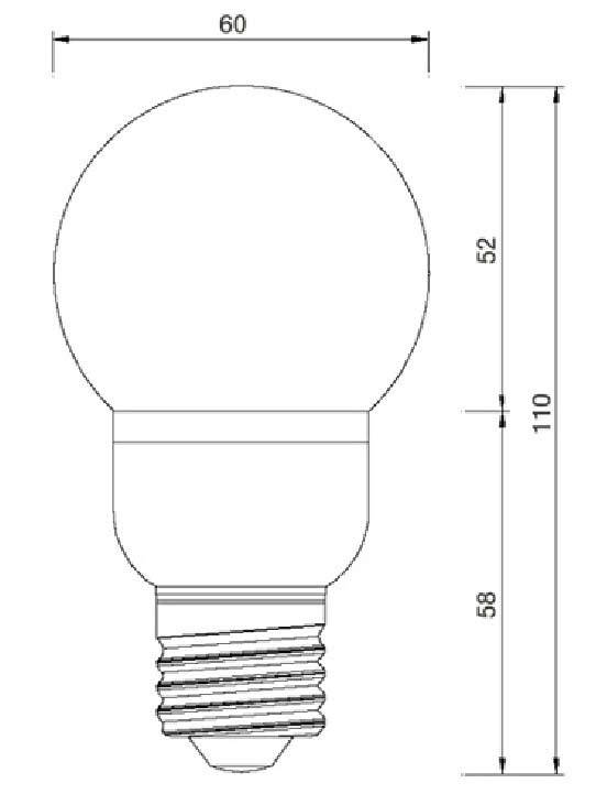 Dimention-ampoule-spherique-E27-27LED-SMD