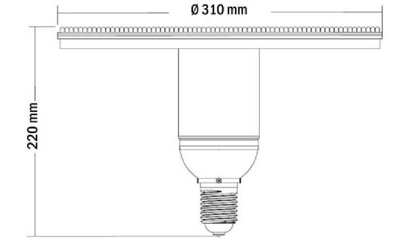 Dimention-lampe-flat-LED-450LED-120degres
