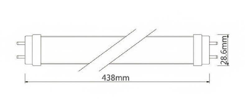 Dimention-minitube-t8-438mm