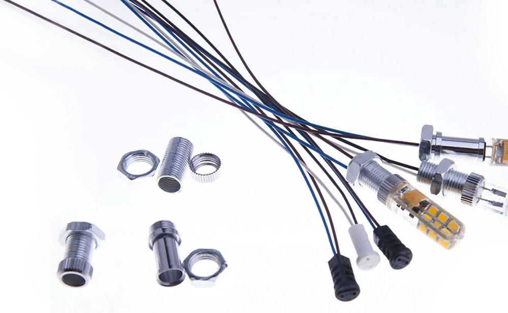 Support de lampe G4 sur traversée de cloison  pour ampoules