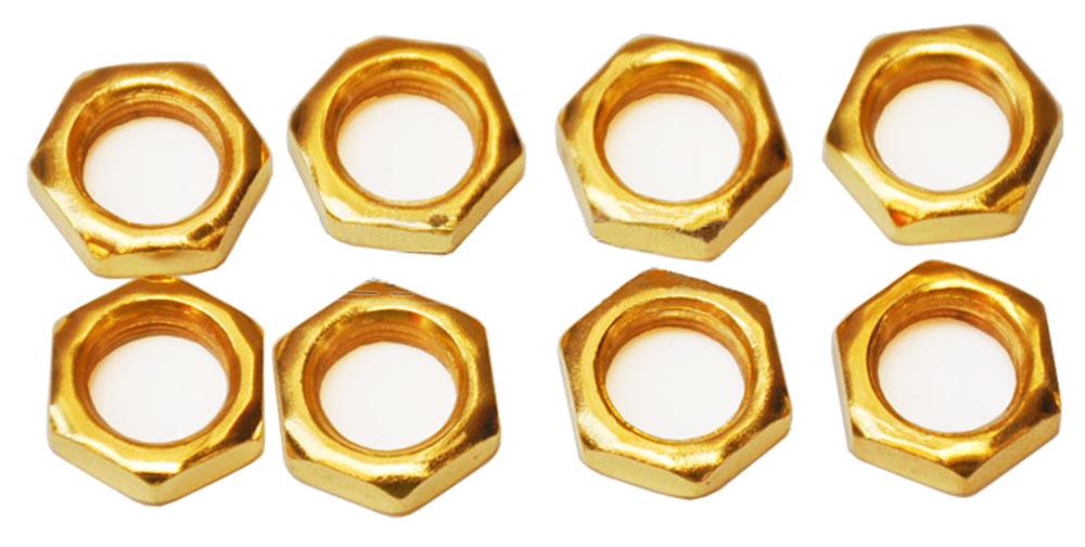 Ecrou six pans chrome couleur OR size