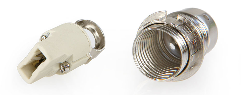 Douille à vis G9 en acier finition chromé gris