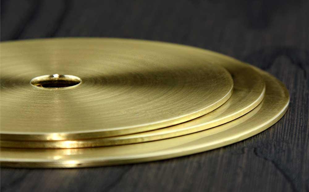 Rondelle laiton plate lustre