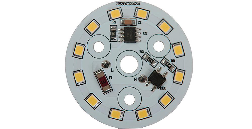 Platine AC LED 5 watts à alimentation transistorisé 230V