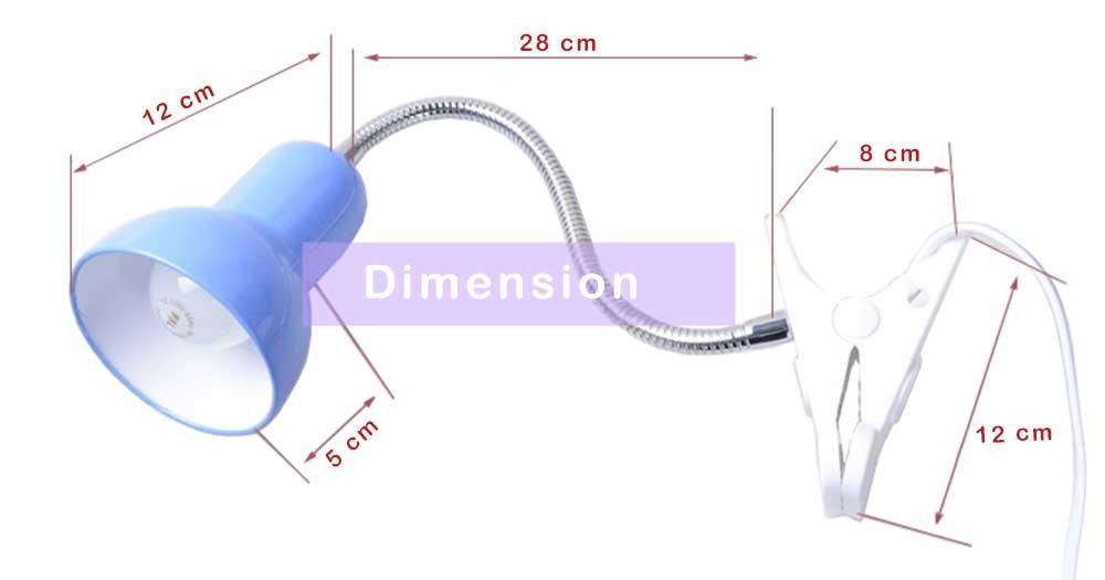 Lampe de bureau sur pince interdimension