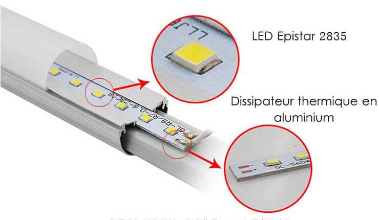 Tube SensLed detecteur HF micro