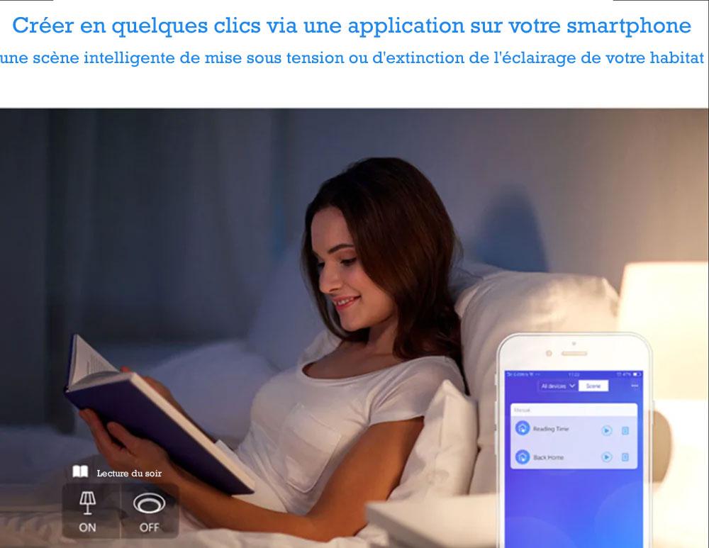 Interrupteur tactile Sonoff programmation et contrôle sur Smartphone et tablette numérique