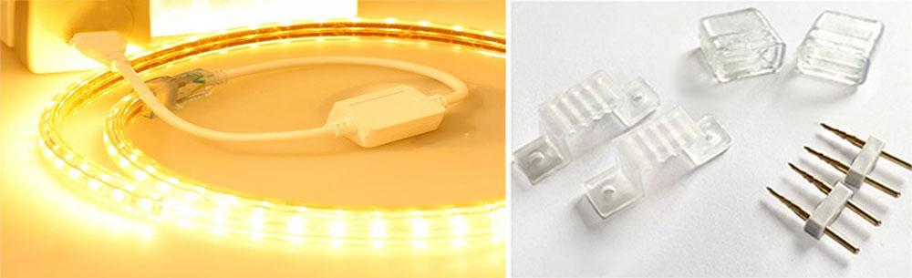 Strip LED 230 volts accessoire installation