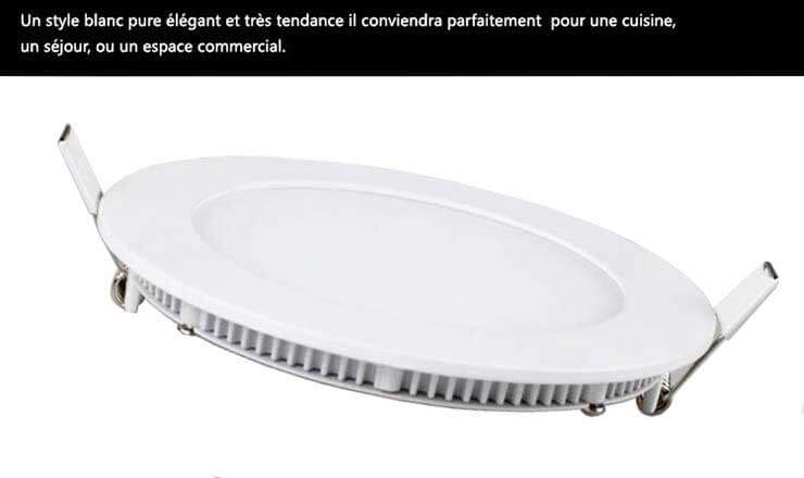 Style blanc pure rond