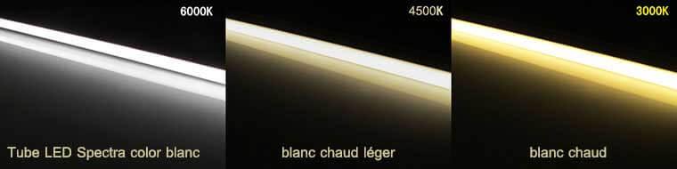 Tube LED Spectra color les 3 couleurs