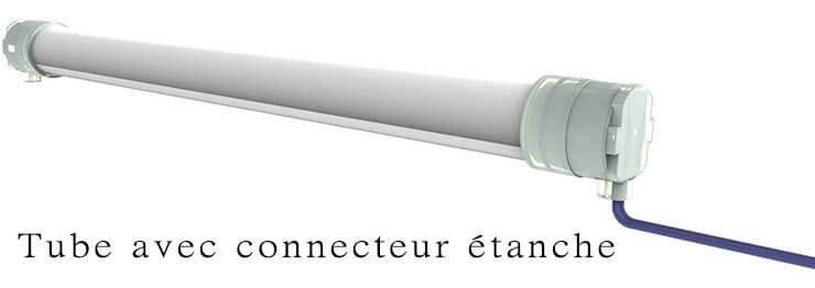 Tube avec connecteur étanche