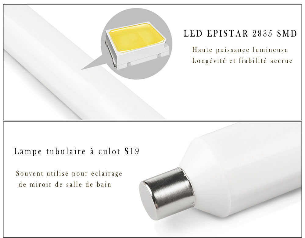 Tube Linolite LED S19 LED 2835 SMD