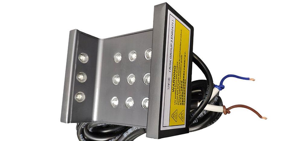 Projecteur de lumière ultra violet LED désinfection automatique des rampes de montes escalier in