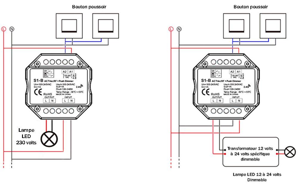 Schéma-câblage-variateur RF 2.4 g