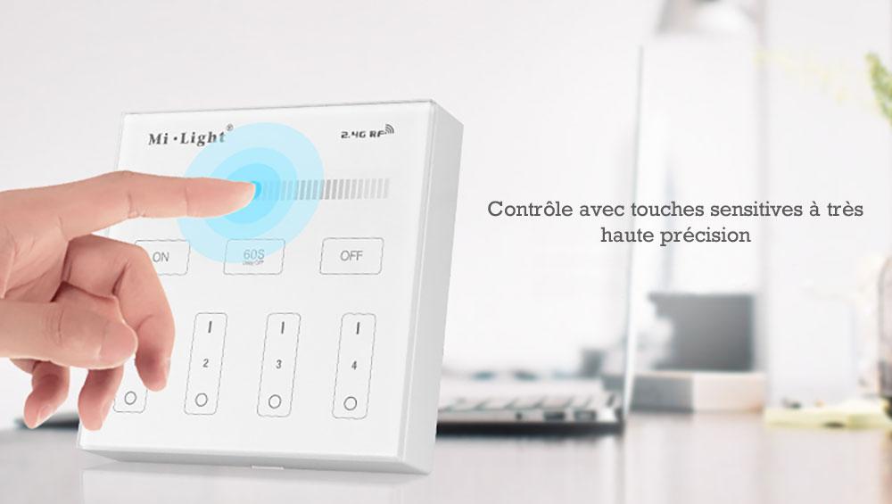 Controleur variateur mural Mi-light B1 pour variateur d'intensité