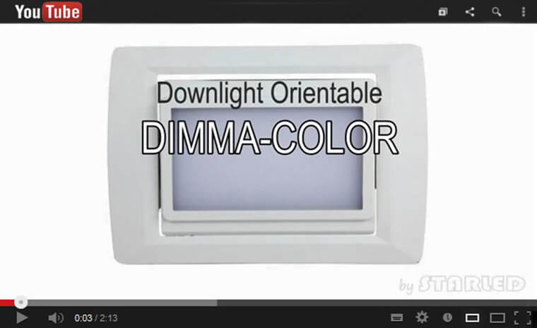 Lien downlight rectangulaire Dimma Color youtube starled