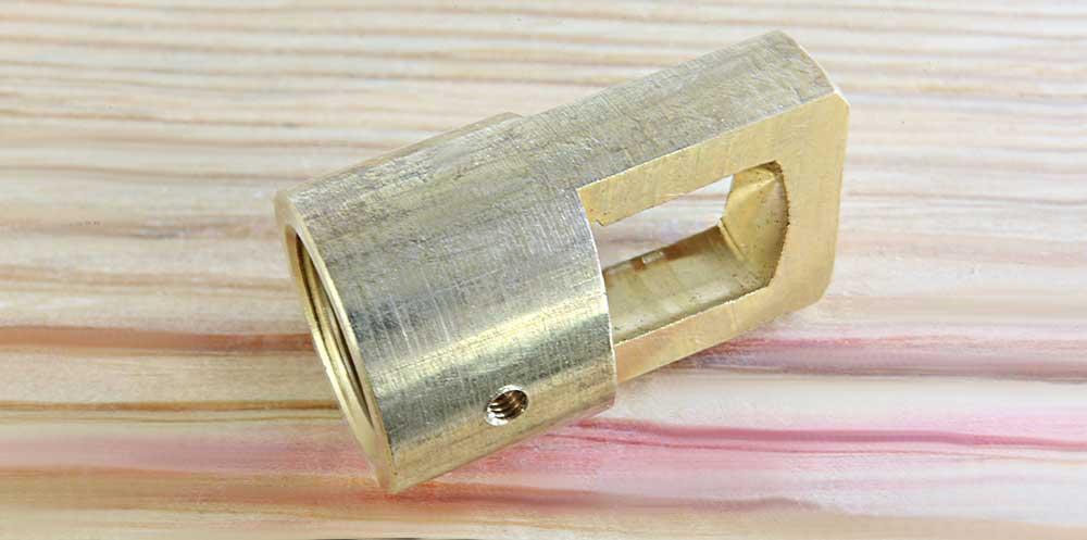 Anneau de suspension laiton usiné dans la masse taraudage M20 finition brute lisse