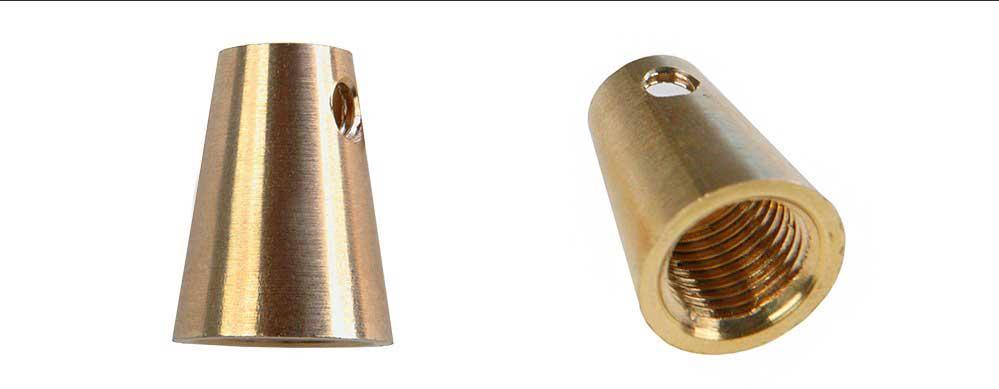 serre câble en laiton de forme conique in