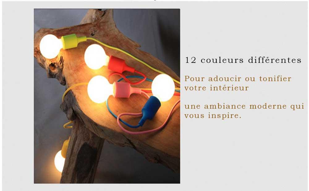 lampe couleur avec douille et ampoule