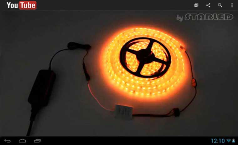 lien pour le strip LED Dimma color youtube starled