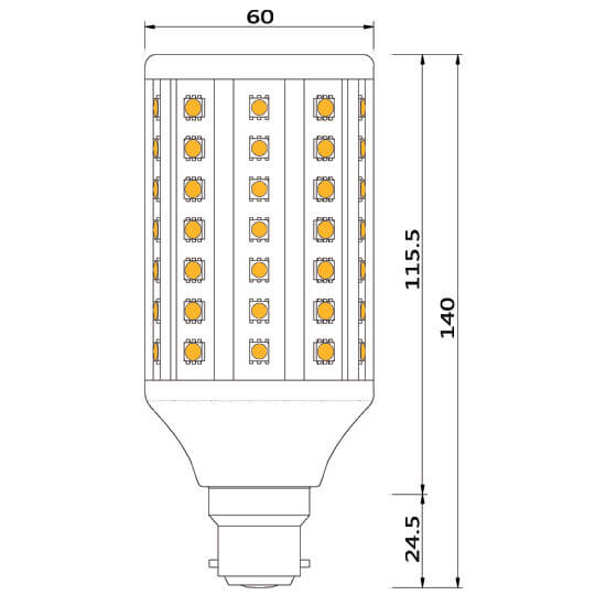 ampoule led 91 smd b22