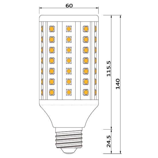 ampoule led 90-smd-e27