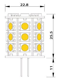Ampoule led 27 smd G4