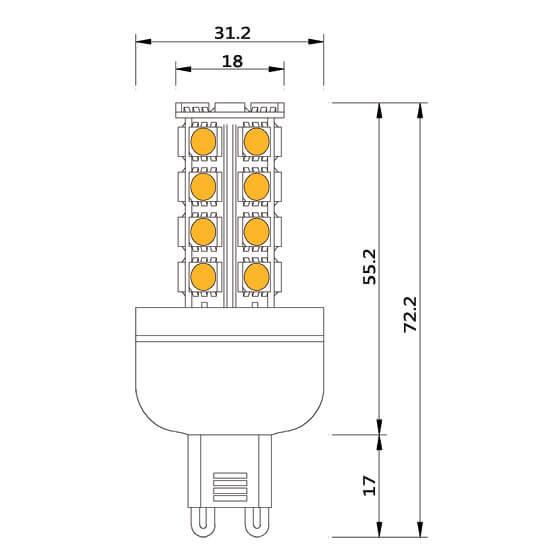 Ampoule led 27 smd G9