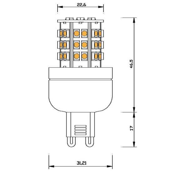 Ampoule-48-leds-SMD-G9-220-240-volts
