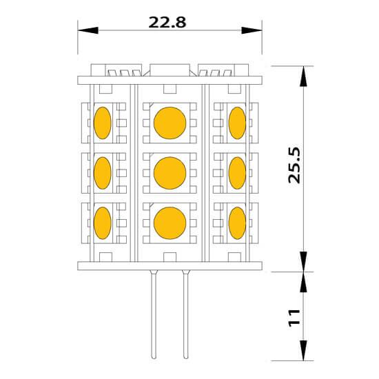Ampoule led 24 smd G4